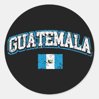 Guatemala Flag Classic Round Sticker