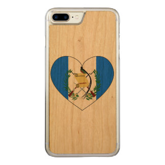 Guatemala Flag Heart Carved iPhone 8 Plus/7 Plus Case