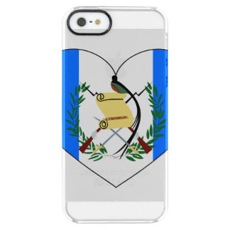 Guatemala Flag Heart Clear iPhone SE/5/5s Case