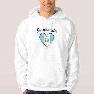Guatemala Flag Heart Hoodie