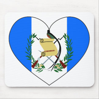 Guatemala Flag Heart Mouse Pad