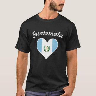 Guatemala Flag Heart T-Shirt