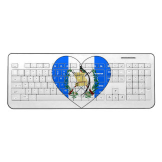 Guatemala Flag Heart Wireless Keyboard