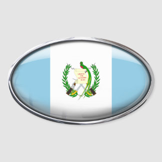 Guatemala Flag in Glass Oval (pack of 4) Oval Sticker