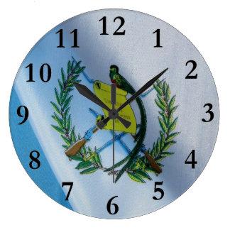 Guatemala Flag with Quetzal symbol Wall Clocks