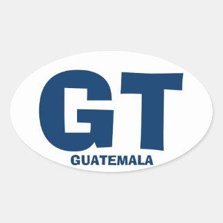 Guatemala GT Oval Sticker