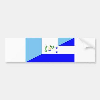 guatemala honduras half flag symbol bumper sticker