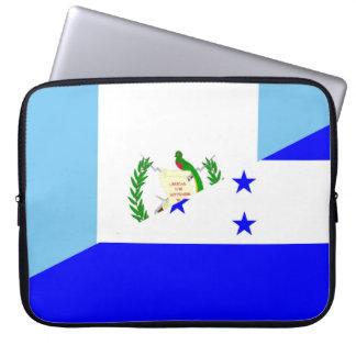 guatemala honduras half flag symbol laptop sleeve