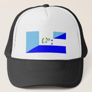 guatemala honduras half flag symbol trucker hat