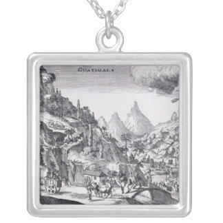 Guatemala', in Spanish North America Silver Plated Necklace
