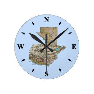 Guatemala Map Clock