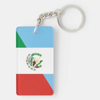 guatemala mexico half flag symbol keychain