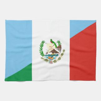 guatemala mexico half flag symbol kitchen towel