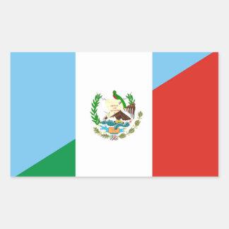 guatemala mexico half flag symbol sticker