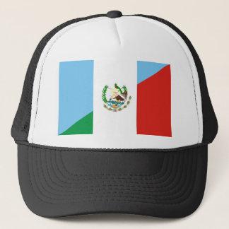 guatemala mexico half flag symbol trucker hat