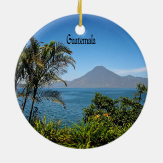 Guatemala, Nature's Beautiful Landscape Ceramic Ornament