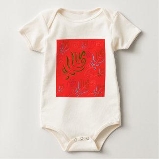 GUATEMALA RED FOLK PATTERN BABY BODYSUIT
