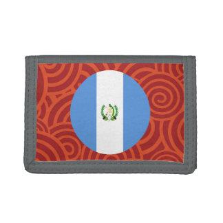Guatemala round flag tri-fold wallet