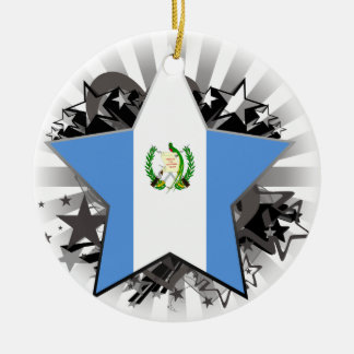 Guatemala Star Ceramic Ornament