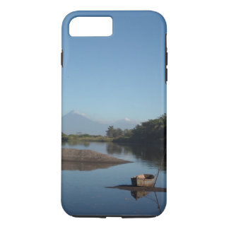 Guatemala Volcano and Canoe Phone Case