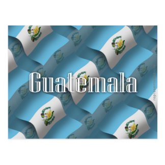 Guatemala Waving Flag Postcard