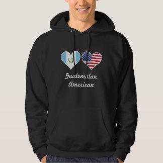 Guatemalan American Flag Hearts Hoodie