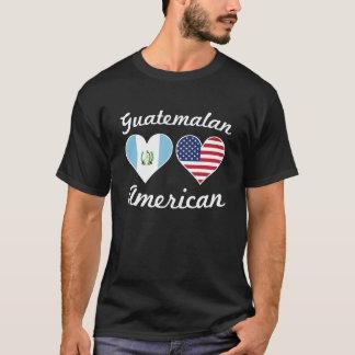 Guatemalan American Flag Hearts T-Shirt