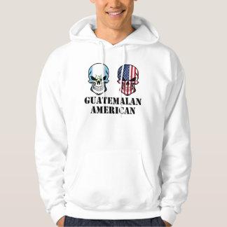 Guatemalan American Flag Skulls Hoodie