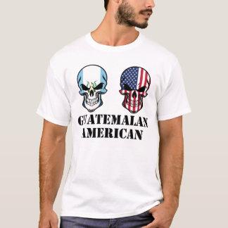 Guatemalan American Flag Skulls T-Shirt