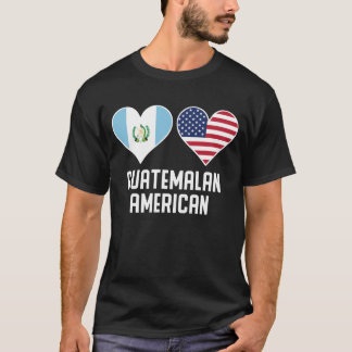 Guatemalan American Heart Flags T-Shirt