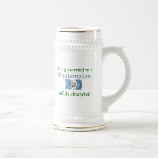 Guatemalan Builds Character 18 Oz Beer Stein