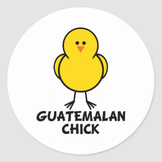 Guatemalan Chick Classic Round Sticker
