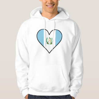 Guatemalan Flag Heart Hoodie