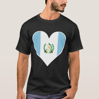 Guatemalan Flag Heart T-Shirt