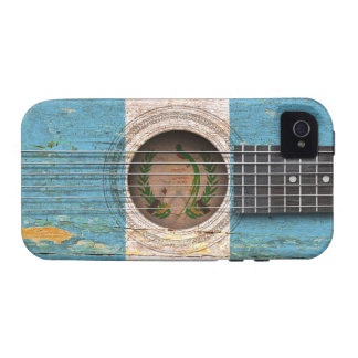 Guatemalan Flag on Old Acoustic Guitar iPhone 4/4S Covers