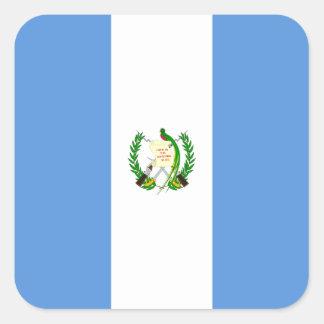 Guatemalan Flag Square Sticker