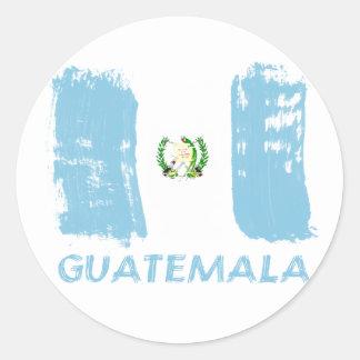 Guatemalan grunge designs classic round sticker