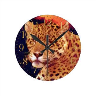 Guatemalan Jaguar Wildlife Wall Clock