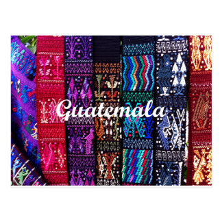 Guatemalan textile designs. postcard