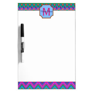 Guatemalan Tribal Monogram Office Or Dorm Lists Dry-Erase Whiteboard
