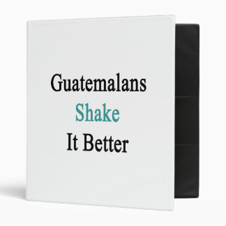 Guatemalans Shake It Better 3 Ring Binder
