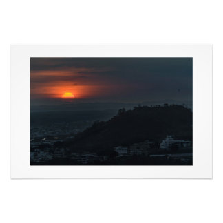 Guayaquil Aerial Landscape Sunset Scene Art Photo