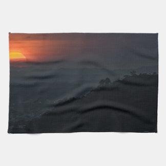 Guayaquil Aerial Landscape Sunset Scene Kitchen Towels