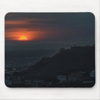 Guayaquil Aerial Landscape Sunset Scene Mouse Pad