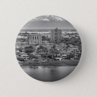 Guayaquil Aerial View from Window Plane 2 Inch Round Button