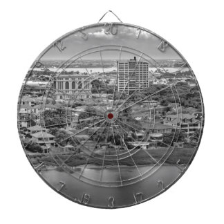Guayaquil Aerial View from Window Plane Dartboard