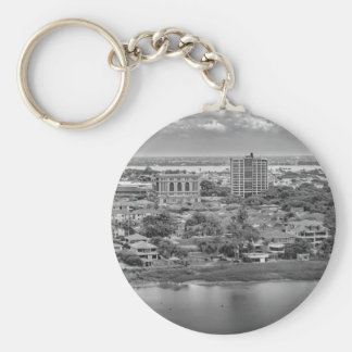 Guayaquil Aerial View from Window Plane Keychain
