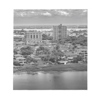Guayaquil Aerial View from Window Plane Notepad