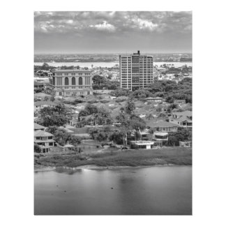 Guayaquil Aerial View from Window Plane Personalized Letterhead