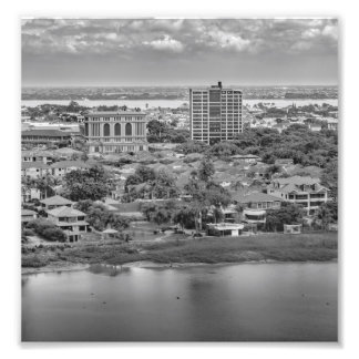 Guayaquil Aerial View from Window Plane Photographic Print